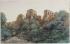 """George Sand (1804-1876). """"Dendrite, paysage imaginaire"""". Aquarelle sur papier. Paris, musée de la Vie romantique. © Musée de la Vie Romantique/Roger-Viollet"""