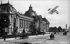 Henri Farman biplane flying over the Petit Palais (architect : Charles Girault). Paris, 1900's. © Neurdein/Roger-Viollet