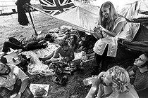 Participants au festival de Woodstock (New York), 1969. © Tom Miner / The Image Works / Roger-Viollet