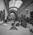 Paris, musée du Louvre. Works of redevelopment of the Grande Galerie, 1947. © Pierre Jahan / Roger-Viollet