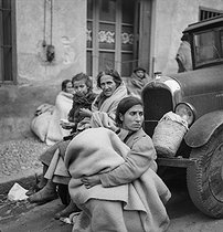 Spanish Civil War (1936-1939). Exodus of the Republicans in France, February 1939. © Gaston Paris / Roger-Viollet