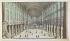 """""""Vue intérieure de l'église cathédrale Notre-Dame de Paris"""", vers 1770, publié à Paris chez Mondhare rue St Jacques. Estampe. Paris, musée Carnavalet. © Musée Carnavalet / Roger-Viollet"""