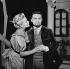 """""""Ce fou de Platonov"""" de Tchekhov. Christiane Minazzoli et Roger Mollien. Paris, Théâtre National Populaire, novembre 1956. © Studio Lipnitzki/Roger-Viollet"""