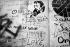 Graffiti sur la maison de Serge Gainsbourg (1928-1991), chanteur et compositeur français. Paris (VIIème arr.) rue de Verneuil, septembre 1991. © Roger-Viollet