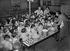 Milk distribution in a nursery school. France, 1941.  © LAPI/Roger-Viollet
