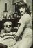 """Andy Warhol (1928-1987), artiste et cinéaste américain, et Mario Montez, acteur américain travesti, sur le tournage de son film """"Chelsea Girls"""". 1966. © TopFoto / Roger-Viollet"""