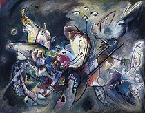 """Wassily Kandinsky (1866-1944). """"Temps couvert"""". Huile sur toile, 1917. Moscou (Russie), galerie Tretiakov. © Iberfoto / Roger-Viollet"""