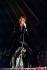Johnny Hallyday (1943-2017), acteur et chanteur français, en concert. 1974. © Roger-Viollet