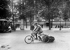 Roadsweeper-cycle. Paris, Madeleine square, around 1910. © Albert Harlingue/Roger-Viollet