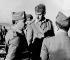 Guerre d'Espagne (1936-1939). Le général Franco (1892-1975) et le général Mario Berti (1881-1964), commandant des divisions italiennes, sur le front de Valence (Espagne), août 1938. © Ullstein Bild / Roger-Viollet
