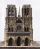 """Auguste Cardinal. """"Cathédrale Notre-Dame de Paris"""". Carton pâte, bois polychromé, blanc et ocre. 1847. Paris, musée Carnavalet. © Eric Emo / Musée Carnavalet / Roger-Viollet"""