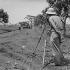 Construction d'une route à la Faustina (province de La Havane). Cuba, 1959.     GLA-071C-9 © Gilberto Ante/Roger-Viollet