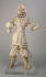 """""""Roi gardien en terre cuite, Chine, époque Tang (618-907)"""". Terre cuite. Objet d'art. Paris, musée Cernuschi. © Philippe Joffre/Musée Cernuschi/Roger-Viollet"""