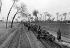 Guerre civile chinoise ( 1929-1934). Ravitaillement par charrettes attelées de boeufs des soldats de Tchang Kaï-Chek lors d'une des cinq campagnes lancées contre Mao Zedong et la République Rouge de Ruijin (Jiangxi). © Roger-Viollet