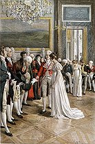 Josephine de Beauharnais (born Marie-Josèphe Tascher of Pagerie, 1763-1814), wife of Napoleon Bonaparte, greeting some ambassadors at the Tuileries. © Roger-Viollet