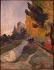 Paul Gauguin (1848-1903). The Alyscamps. Oil on canvas, 1888. Paris, musée d'Orsay.     © Roger-Viollet