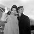 Margot Fonteyn (1919-1991), danseuse britannique, et Rudolf Noureev (1938-1993), danseur soviétique, partant pour l'Australie. Londres (Angleterre), aéroport d'Heathrow, 10 avril 1964. © TopFoto/Roger-Viollet