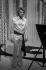 Johnny Hallyday (1943-2017), acteur et chanteur français, lors d''une émission télévisée. © Roger-Viollet