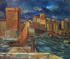 "Antoine Bourdelle (1861-1929). ""Marine, Marseille"". Oil on canvas. Paris, musée Bourdelle.     © Musée Bourdelle / Roger-Viollet"