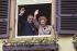Helmut Kohl (1930-2017), homme d'Etat allemand, et Margaret Thatcher (1925-2013), Premier ministre britannique. Deidesheim (Allemagne), 30 avril 1989. © Sven Simon / Ullstein Bild / Roger-Viollet