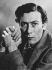 John Osborne (1929-1994), auteur dramatique, scénariste et acteur britannique. 1957. © Jitendra Arya / Ullstein Bild / Roger-Viollet