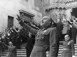 Francisco Franco (1892-1975), homme d'Etat espagnol, lors d'un rassemblement. Burgos (Espagne), juillet 1936. © Ullstein Bild / Roger-Viollet