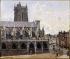 """Camille Pissarro (1830-1903). """"L'église Saint-Jacques à Dieppe"""", 1901. Paris, musée d'Orsay.     © Roger-Viollet"""