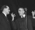 Bernard Gavoty (1908-1981), organiste et critique musical français, et Francis Poulenc (1899-1963), compositeur français.    © Claude Poirier / Roger-Viollet