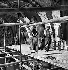 Paris, musée du Louvre. Renovation works of the Grande Galerie, 1947. © Pierre Jahan/Roger-Viollet