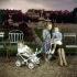Mother and her children at the Tuileries garden. Paris (Ist arrondissement), circa 1950. © Roger-Viollet
