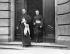 Pie XII (1876-1958), pape italien, quittant le ministère prussien après l'échange de documents de ratification. Berlin (Allemagne), 14 juin 1929. © Ullstein Bild/Roger-Viollet