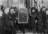 Affaire du vol de la Joconde. Le retour du tableau au musée du Louvre. Paris, 1914. © Maurice-Louis Branger/Roger-Viollet