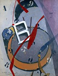 """Jean Crotti (1878-1958). """"La mariée dévissée"""". Huile sur toile, 1921. Paris, musée d'Art moderne. © Musée d'Art Moderne / Roger-Viollet"""