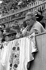 Jean Cocteau (1889-1963), French writer, attending a bullfight. Arles (Bouches-du-Rhône), 1958. © Bernard Lipnitzki / Roger-Viollet