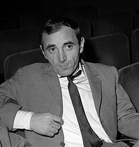 Charles Aznavour (1924-2018), Armenian-born French singer-songwriter and actor. Paris, Olympia, 1963. © Claude Poirier / Roger-Viollet