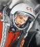 Iouri Gagarine à bord de la capsule Vostok 1, avril 1961. © TopFoto/Roger-Viollet