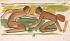 """Georges Rouault (1871-1958). """"Arabesque"""". Huile délayée à l'essence et encre de Chine sur papier, 1902. Paris, musée d'Art moderne. © Musée d'Art Moderne/Roger-Viollet"""