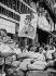 World War II. Liberation of Paris. Satirical cartoon of Adolf Hitler (1889-1945), German statesman), on a barricade. Paris, on August 25, 1944. © LAPI/Roger-Viollet
