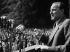 Janos Kadar (1912-1989), homme politique hongrois, lors d'une cérémonie organisée par le parti communiste hongrois. 1959. © Ullstein Bild / Roger-Viollet