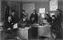 Editorial staff meeting in a Russian printing house. Paris, 1927. © Boris Lipnitzki/Roger-Viollet