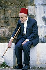 Old man Druze in the burial of the Sheik Halim Takiedine. Bakline, in Chouf ( Lebanon), in December 4, 1983. FDM-1386-4 © Françoise Demulder / Roger-Viollet