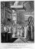Sacre de Napoléon Ier (1769-1821), empereur des Français, par le pape Pie VII. Paris, cathédrale Notre-Dame, 2 décembre 1804. Gravure, B.N.F. © Roger-Viollet