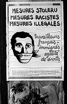 Poster to support migrant workers. Paris, 1977. © Roger-Viollet