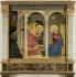 "Fra Angelico (1387-1455). ""L'Annonciation"", vers 1438. Cortone (Italie), musée du diocèse. © Alinari/Roger-Viollet"