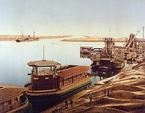 Entrance of the Suez Canal. Port Said (Egypt), circa 1890-1900. © Roger-Viollet