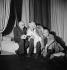 """Répétition de la pièce """"Les Souliers de Satin"""". Paul Claudel, Marie Bell et Aimé Clariond. Paris, Comédie-Française, avril 1949. © Boris Lipnitzki / Roger-Viollet"""