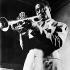 Louis Armstrong (1901-1971), American jazz trumpeter and singer. © Albert Harlingue/Roger-Viollet