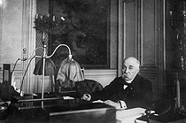 Georges Clemenceau (1841-1929), French politician, at his study. © Albert Harlingue/Roger-Viollet