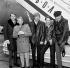 """Carl Wilson, Bruce Johnston, Al Jardine, Dennis Wilson et Mike Love, membres du groupe de rock américain  """"The Beach Boys"""". Londres (Angleterre), novembre 1964. © PA Archive / Roger-Viollet"""