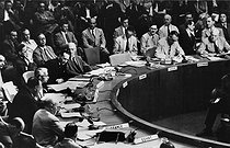 UNO Security Council. Vote of a resolution concerning North Korea. New York (United States), June 25, 1950. © Roger-Viollet
